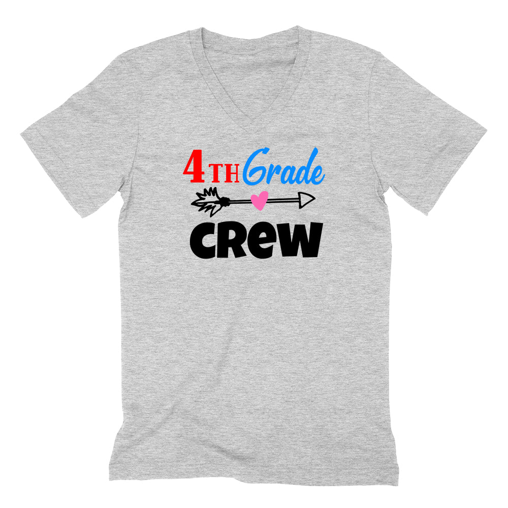 4th grade crew V Neck T Shirt
