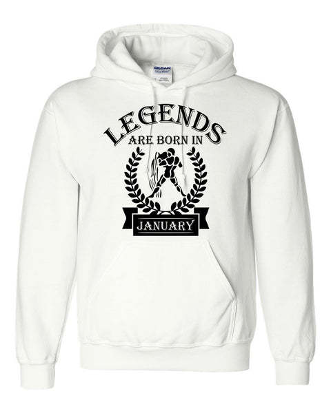 Legends are born in January hoodie, zodiac thing, birthday gift, astrology horoscope hoodie, for her, for him