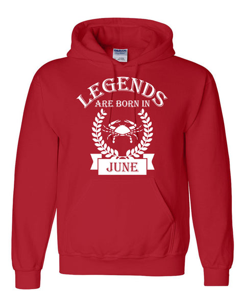 Legends are born in June hoodie, zodiac thing,  birthday gift, astrology horoscope hoodie, for her, for him