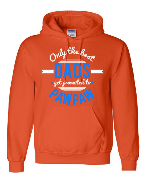 Only the best dads get promoted to pawpaw hoodie father's day  Announcement  family grandparents to be gift ideas for him