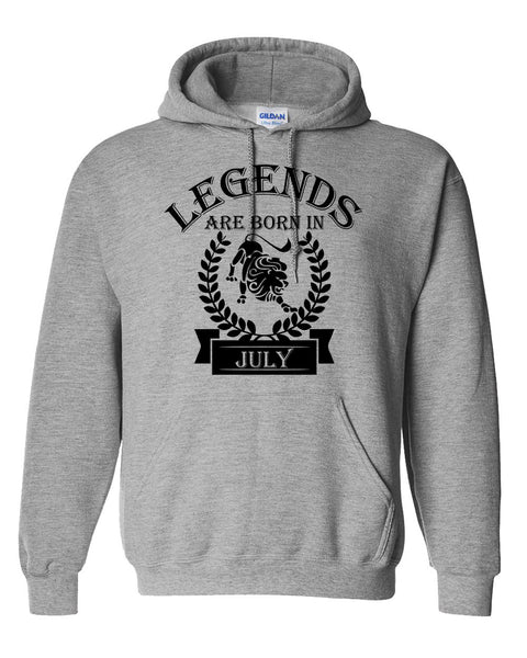 Legends are born in July hoodie, zodiac thing,  birthday gift, astrology horoscope hoodie, for her, for him