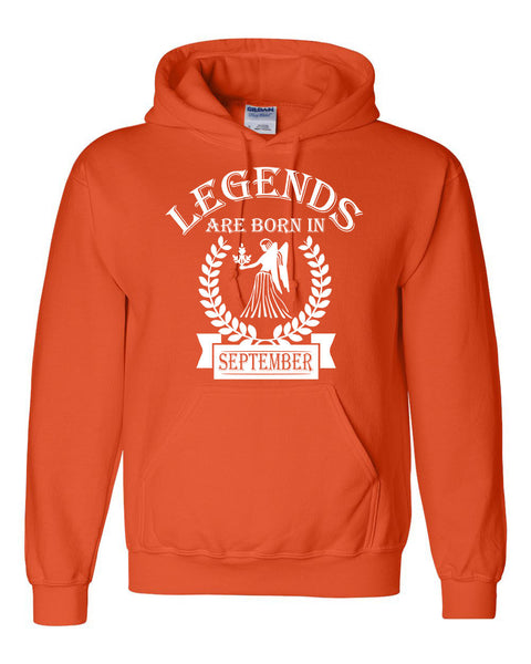Legends are born in September hoodie,  birthday gift, astrology horoscope hoodie, for her, for him, virgo