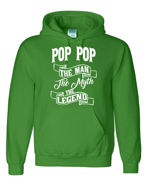 Pop Pop the man the myth the legend hoodie birthday father's day Christmas xmas gift ideas for him