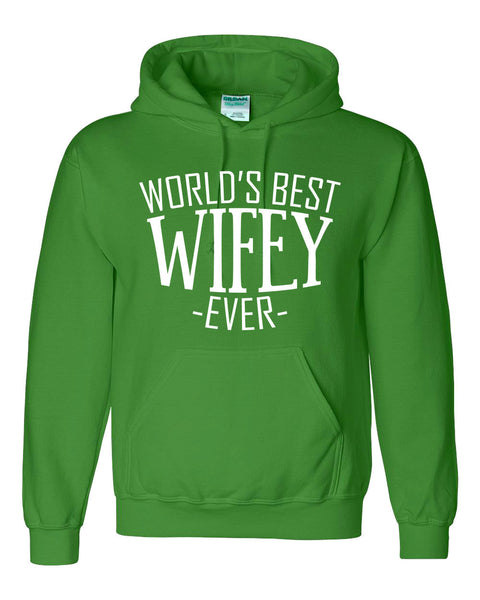 World's best wifey ever hoodie birthday christmas holiday anniversary gift ideas for best wife for her