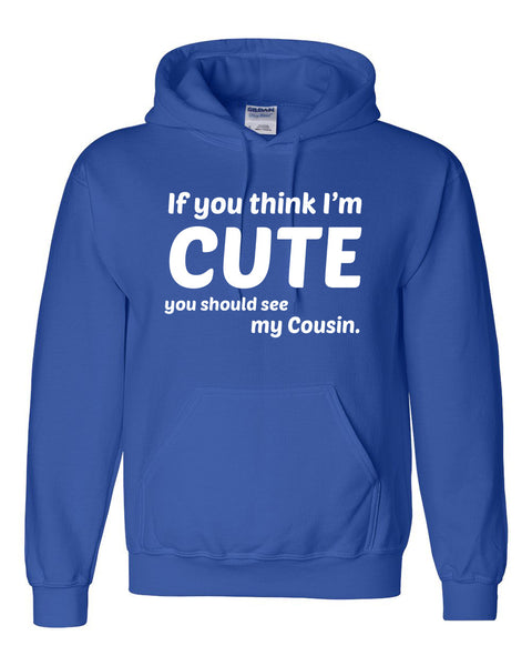 If you think I'm cute you should see my cousin Hoodie