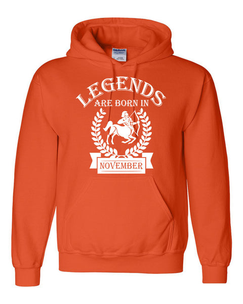 Legends are born in November hoodie, zodiac thing, birthday gift, astrology horoscope hoodie, for her, for him, sagittarius