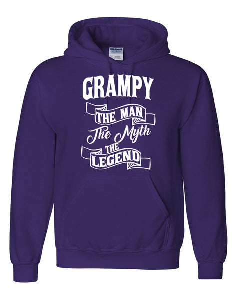 Grampy the man the myth the legend hoodie birthday father's day Christmas xmas gift ideas for him
