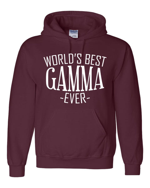 World's best gamma ever hoodie family mother's day birthday christmas holiday gift ideas  best grandma  grandmother