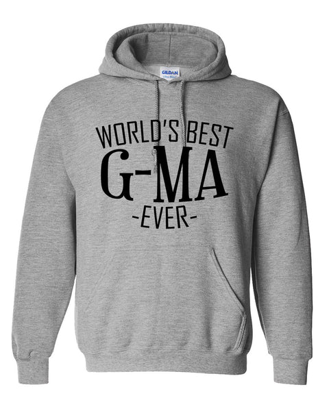 World's best g-ma ever hoodie family  mother's day birthday christmas holiday gift ideas  best grandma  grandmother