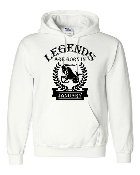 Legends are born in January hoodie, zodiac thing, birthday gift, astrology horoscope hoodie, for her, for him, capricorn