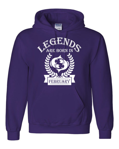 Legends are born in February hoodie, zodiac thing,  birthday gift, astrology horoscope hoodie, for her, for him, pisces