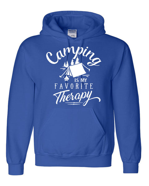 Camping is my favorite therapy hoodie  for him for her hiking camp lover sweatshirt