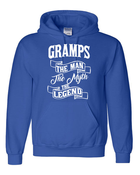 Gramps the man the myth the legend hoodie birthday father's day Christmas xmas gift ideas for him