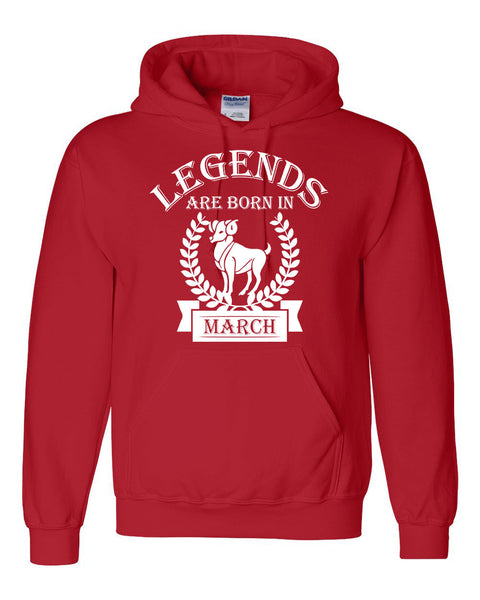 Legends are born in March hoodie, zodiac thing, birthday gift, astrology horoscope hoodie, for her, for him, aries