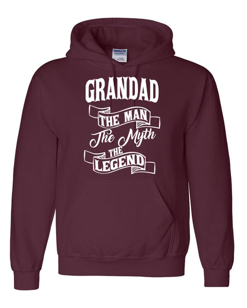 Grandad the man the myth the legend hoodie birthday father's day Christmas xmas gift ideas for him