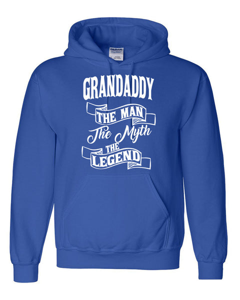 Grandaddy the man the myth the legend hoodie birthday father's day Christmas xmas gift ideas for him