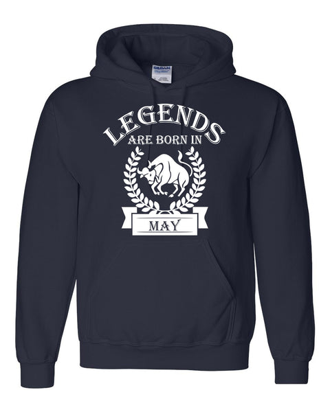 Legends are born in May hoodie, zodiac thing, birthday gift, astrology horoscope hoodie, for her, for him, taurus