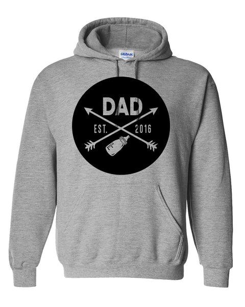 New Dad hoodie father's day  gift ideas for him best dad  new daddy sweaters est 2016