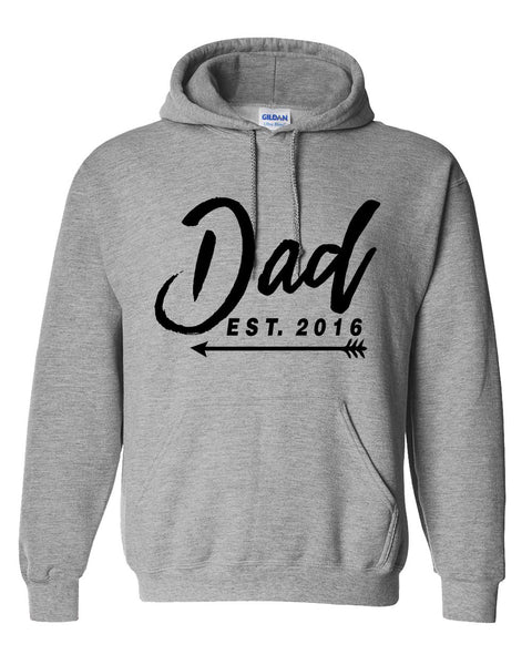 New Dad hoodie  father's day  gift ideas for him best dad  new daddy sweater est 2016