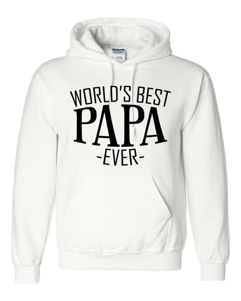 World's best papa ever hoodie family father's day birthday christmas holiday gift ideas  best grandpa  grandfather