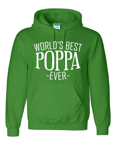 World's best poppa ever hoodie family father's day birthday christmas holiday gift ideas  best grandpa  grandfather