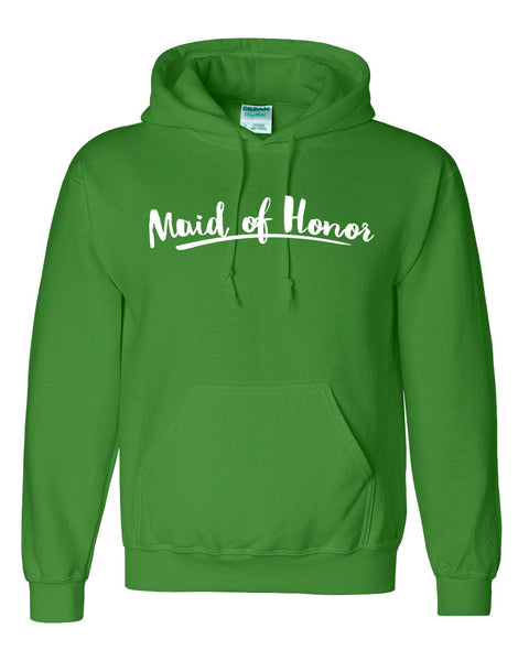 Maid of honor hoodie hen party shirt gift ideas for her wedding and bridal party hoodie