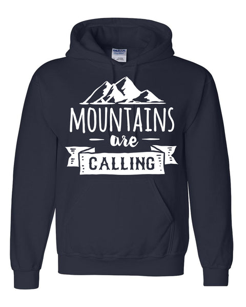 Mountains are calling hoodie unisex sweatshirt camping fishing nature gift ideas