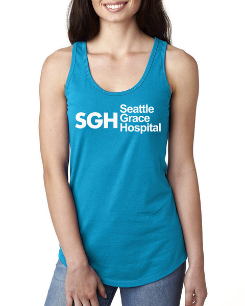 SGH Seattle Grace Hospital  Ladies Racerback Tank Top