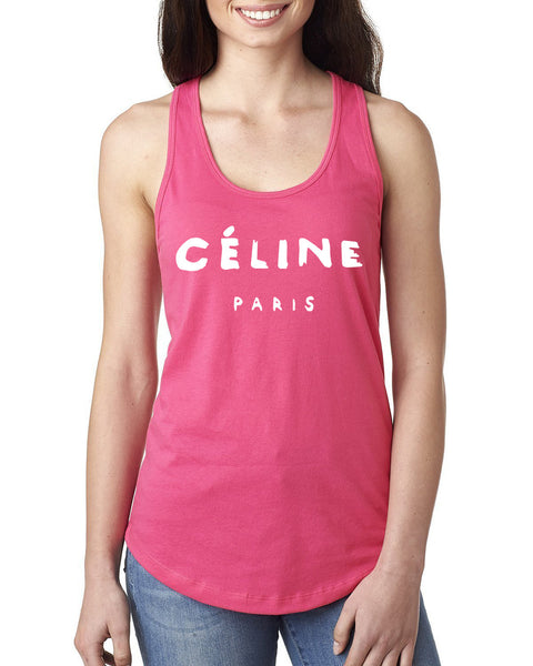 Celine paris Ladies  Racerback Tank Top