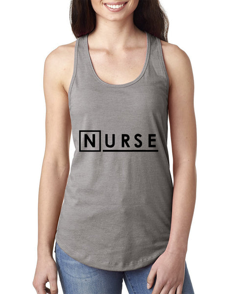 Nurse Ladies  Racerback Tank Top