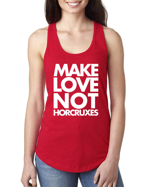Make love not horcruxes Ladies  Racerback Tank Top