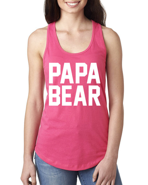Papa bear Ladies  Racerback Tank Top
