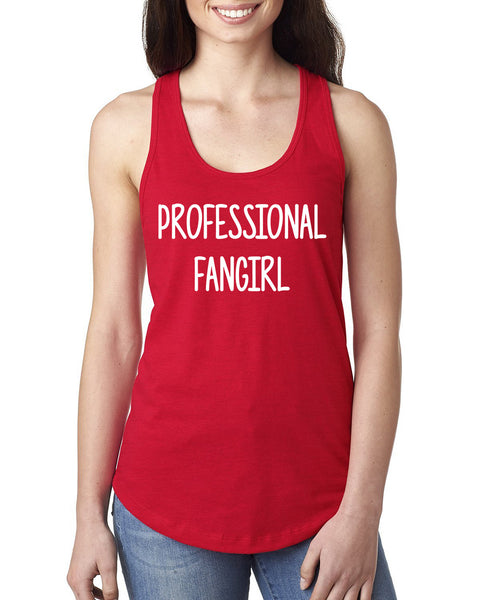 Proffessional fangirl Ladies  Racerback Tank Top