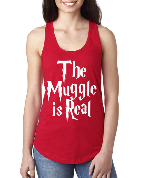 The muggle is real Ladies  Racerback Tank Top