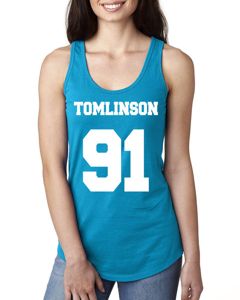 Tomlinson 91 Ladies  Racerback Tank Top