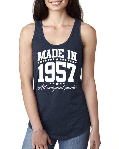 Made in 1957 all original parts Ladies  Racerback Tank Top