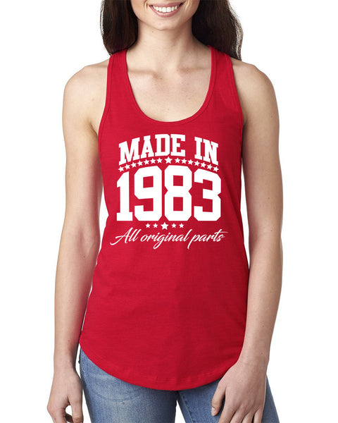 Made in 1983 all original parts Ladies  Racerback Tank Top