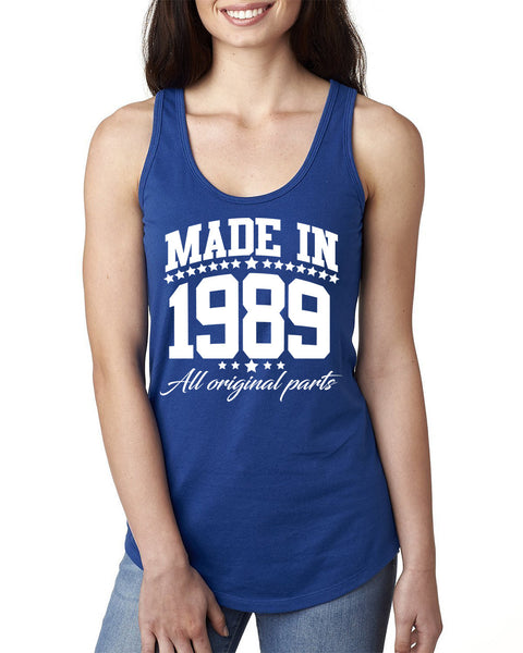 Made in 1989 all original parts Ladies  Racerback Tank Top