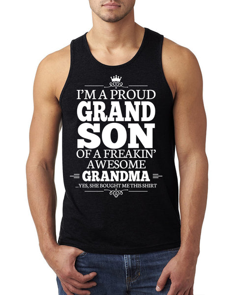 I'm a proudgrandson of a freakin' awesome grandma Tank Top