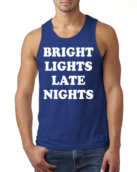 Bright lights late nights Tank Top