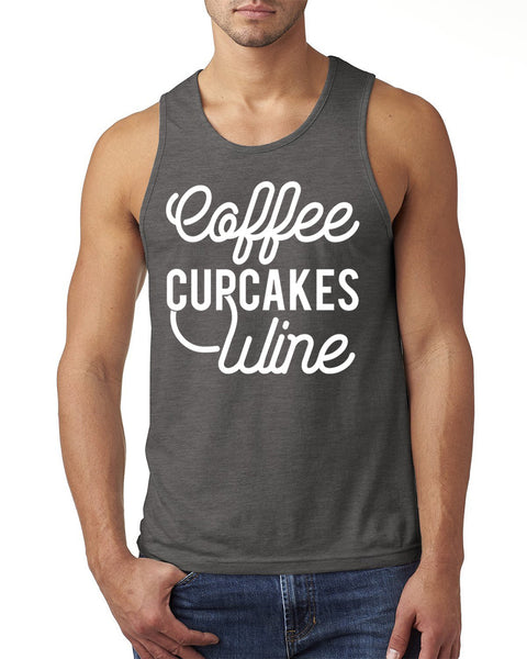 Coffee, cupcakes and wine Tank Top