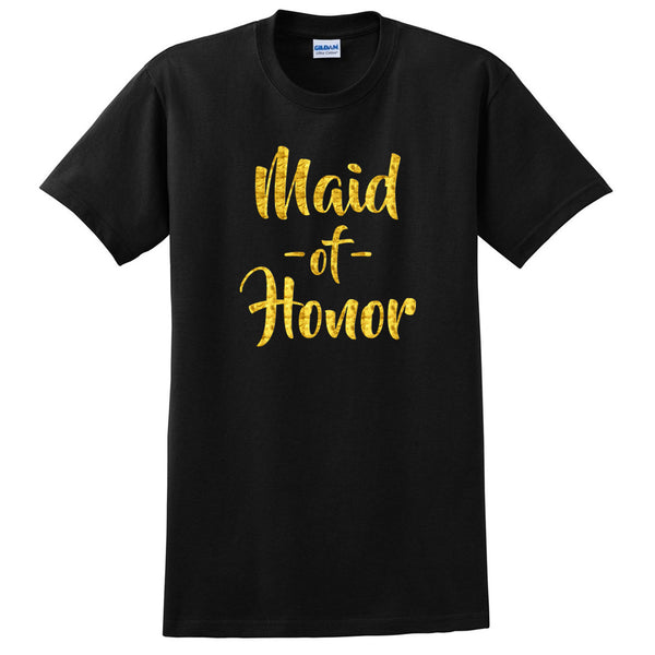 Maid of honor shirt, matron of honor tshirt, bachelorette party T Shirt