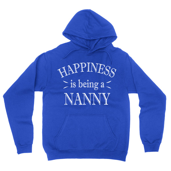 Happiness is being a nanny hoodie gift for nanny birthday mother's day shirts for her