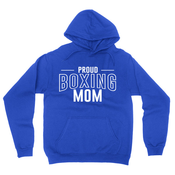 Proud boxing mom team squad game day sport mom love box  Mother's day hoodie