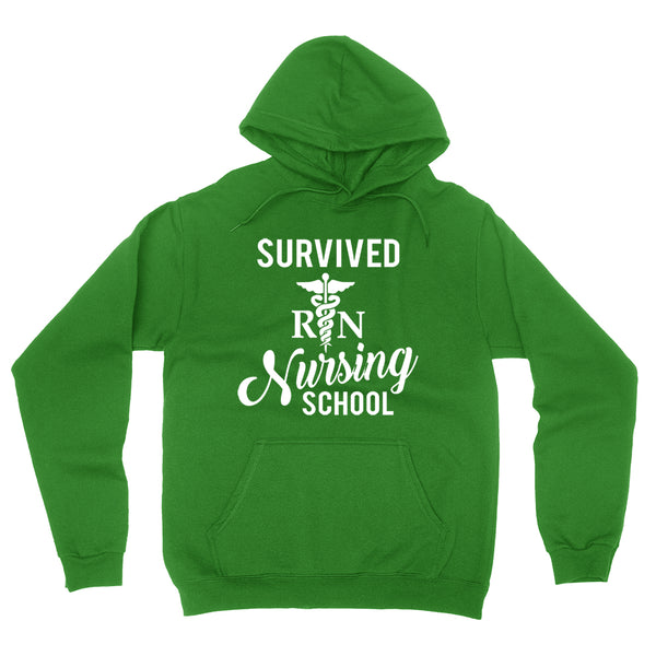 Survived nursing school funny humor cool cute gifts for nurse graduate student graduation  Hoodie