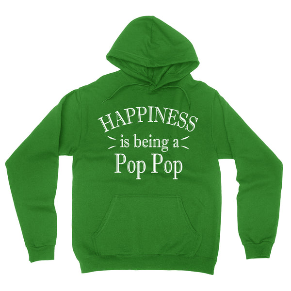 Happiness is being a pop pop hoodie birthday Christmas xmas father's day gift ideas for grandpa grandfather