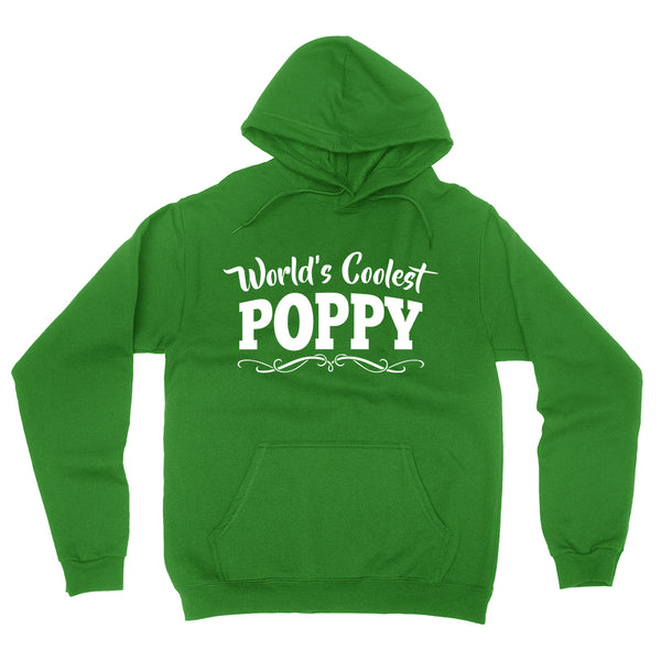 World's coolest poppy Father's day birthday gift ideas for new grandpa proud grandfather gifts for him hoodie