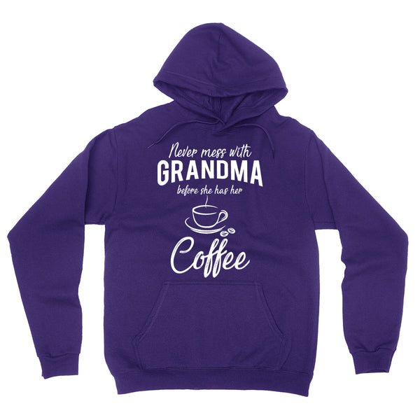 Never mess with grandma before she has her coffee hoodie, funny gift ideas, grandparents day, cool birthday gifts for grandma