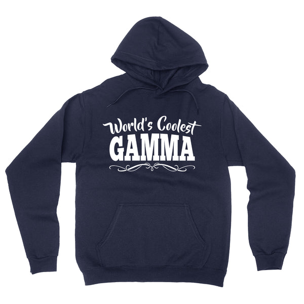World's coolest gamma Mother's day birthday gift ideas for new grandma proud grandmom gifts for her hoodie
