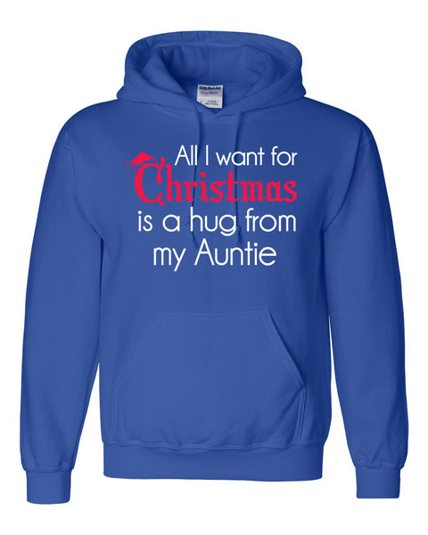 All I want for Christmas is a hug from my auntie Hoodie